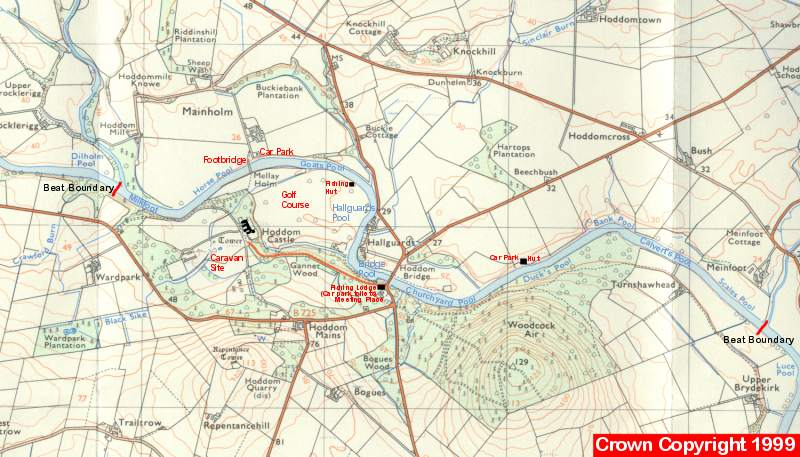 River Annan Hoddom Fishing Beat Map